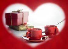 βαλεντίνος ημέρας s καρδιά πλαισίων μορφής Στοκ Εικόνες