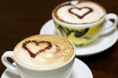 βαλεντίνος ημέρας s cappuccino Στοκ Εικόνα