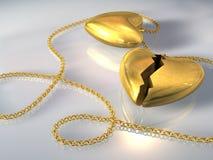 βαλεντίνος καρδιών ρωγμών Στοκ φωτογραφία με δικαίωμα ελεύθερης χρήσης