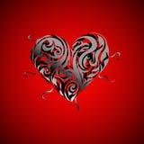 βαλεντίνος καρδιών σχεδί& απεικόνιση αποθεμάτων