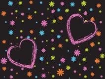 βαλεντίνος καρδιών Στοκ εικόνες με δικαίωμα ελεύθερης χρήσης