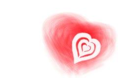 βαλεντίνος καρδιών Στοκ Εικόνα