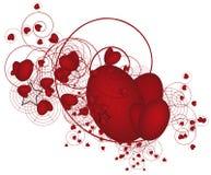 βαλεντίνος καρδιών s ημέρας απεικόνιση αποθεμάτων