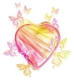 βαλεντίνος καρδιών s πετα&la απεικόνιση αποθεμάτων