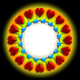 βαλεντίνος καρδιών s πλαισίων Στοκ εικόνα με δικαίωμα ελεύθερης χρήσης