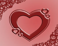 βαλεντίνος καρδιών s διανυσματική απεικόνιση