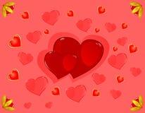 βαλεντίνος καρδιών s ST Στοκ Εικόνα