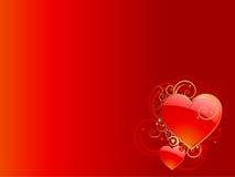 βαλεντίνος καρδιών SAN ανασ& Στοκ Εικόνα