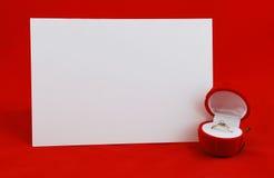 βαλεντίνος καρτών Στοκ εικόνα με δικαίωμα ελεύθερης χρήσης