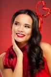 βαλεντίνος κοριτσιών ημέρας hairstyle Στοκ φωτογραφία με δικαίωμα ελεύθερης χρήσης