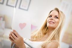 βαλεντίνος κοριτσιών Στοκ φωτογραφίες με δικαίωμα ελεύθερης χρήσης