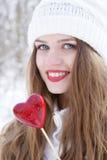 βαλεντίνος κοριτσιών Στοκ φωτογραφία με δικαίωμα ελεύθερης χρήσης