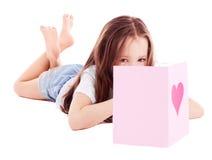 βαλεντίνος κοριτσιών s καρτών Στοκ Εικόνα