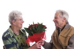 βαλεντίνος λουλουδιώ&n Στοκ Εικόνες