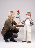 βαλεντίνος λουλουδιώ&n Στοκ φωτογραφία με δικαίωμα ελεύθερης χρήσης