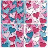 βαλεντίνος προτύπων καρδ&i Στοκ Φωτογραφίες