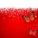 βαλεντίνος χιονιού καρδ& Στοκ Εικόνα