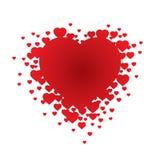 βαλεντίνος illustrati s καρδιών Στοκ εικόνα με δικαίωμα ελεύθερης χρήσης