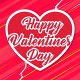 Βαλεντίνων διανυσματική εικόνα καρδιών ημέρας κόκκινη Στοκ Εικόνα