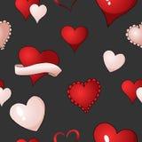 Βαλεντίνων επαναλαμβανόμενο υφαντικό χρώμα υποβάθρου σχεδίων καρδιών διανυσματικό άνευ ραφής απεικόνιση αποθεμάτων