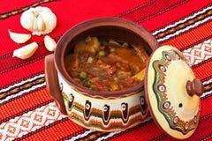 βαλκανικό stew λαχανικό Στοκ Εικόνες