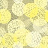Βαλμένη σε στρώσεις διαφορετική αδιαφάνεια σημείων κίτρινη, ασβέστης, άσπρο, καφετί υπόβαθρο επανάληψης Αφηρημένο άνευ ραφής διαν διανυσματική απεικόνιση