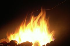 βαλμένος φωτιά σπινθήρας Στοκ Εικόνες