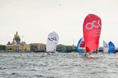 Βαλτική εβδομάδα γιοτ Κατηγορία γιοτ ανταγωνισμών J70 Στοκ Εικόνα