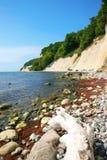 βαλτική θάλασσα απότομων βράχων κιμωλίας Στοκ Εικόνες