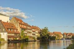 Βαμβέργη, περιοχή klein-Venedig στον ποταμό Regnitz στοκ φωτογραφίες