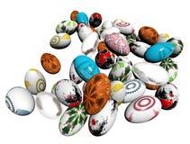 βαμμένα αυγά Πάσχας Στοκ Εικόνες