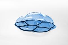 Βαμμένες μπλε φυσαλίδες σαπουνιών Στοκ φωτογραφίες με δικαίωμα ελεύθερης χρήσης