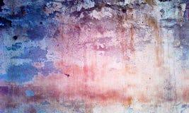 Βανίλια και πορφύρα τοίχων Grunge Στοκ Φωτογραφία