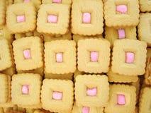 βανίλια κρέμας μπισκότων Στοκ εικόνα με δικαίωμα ελεύθερης χρήσης