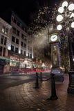 ΒΑΝΚΟΥΒΕΡ, Π.Χ., ΚΑΝΑΔΑΣ - 27 ΝΟΕΜΒΡΊΟΥ 2015: Το παλαιό ρολόι ατμού στο Βανκούβερ ` s ιστορικό Gastown στοκ εικόνες με δικαίωμα ελεύθερης χρήσης