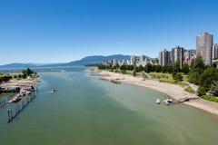 Βανκούβερ, Καναδάς - 23 Ιουνίου 2017: Ο αγγλικοί κόλπος και το Βανκούβερ στοκ φωτογραφία με δικαίωμα ελεύθερης χρήσης