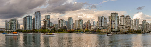 Βανκούβερ, Καναδάς - 18 Σεπτεμβρίου 2016 Ψεύτικος κολπίσκος και κεντρικός Στοκ Φωτογραφία