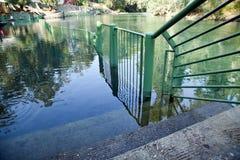 Βαπτιστική περιοχή ποταμών Ιορδάνης Στοκ εικόνα με δικαίωμα ελεύθερης χρήσης