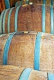 Βαρέλια κρασιού για το κελάρι κρασιού Εικόνα χρώματος Στοκ Εικόνα