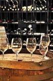 βαρέλια κρασιού γυαλιών Στοκ Φωτογραφίες