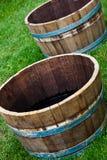 βαρέλια ξύλινα Στοκ Φωτογραφίες