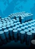 βαρέλια πετρελαίου χαρτ Στοκ Φωτογραφίες