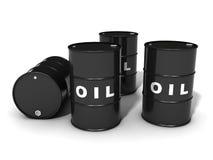 βαρέλια πετρελαίου Στοκ Εικόνες