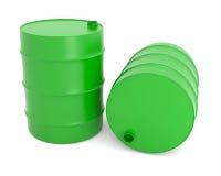 βαρέλια πράσινα Στοκ φωτογραφία με δικαίωμα ελεύθερης χρήσης