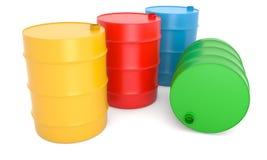 βαρέλια χρώματος Στοκ Φωτογραφίες