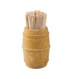 βαρέλι toothpick στοκ φωτογραφία