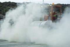 Βαρέων καθηκόντων οδοποιία υπό εξέλιξη Στοκ Εικόνα