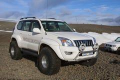 Βαρέων καθηκόντων πλαϊνό όχημα στην Ισλανδία Στοκ Φωτογραφία