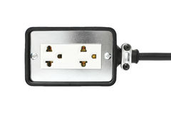 Βαρέων καθηκόντων σκοινί επέκτασης που απομονώνεται στο άσπρο υπόβαθρο στοκ εικόνα με δικαίωμα ελεύθερης χρήσης