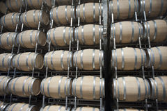 Βαρέλια στο κελάρι κρασιού στοκ εικόνες με δικαίωμα ελεύθερης χρήσης